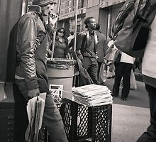 New York City: Street Vender by Ron Greer