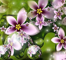 Spring Flower Garden: VIOLET by Junior Mclean