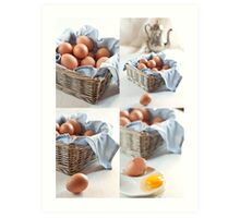 Variations on eggs Art Print