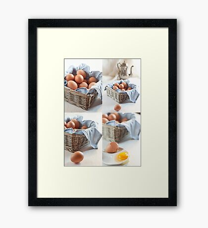 Variations on eggs Framed Print