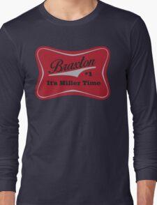 Braxton - Miller Time #1 - Houston Texans - White Long Sleeve T-Shirt