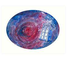 TARDIS in space 02 Art Print