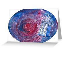 TARDIS in space 02 Greeting Card