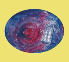 TARDIS in space 02 One Piece - Short Sleeve