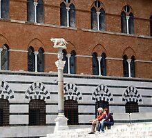 Palazzo Arcievescovile-Siena, Italy by Deborah Downes
