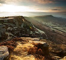 Curbar Gap Derbyshire by Roy Childs