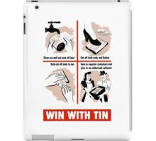 Win With Tin -- World War Two iPad Case/Skin