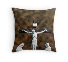 mellary cross Throw Pillow