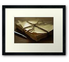 Writing Framed Print