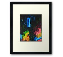 Tetris Tribute Framed Print