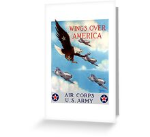 Wings Over America -- Air Corps WWII Greeting Card