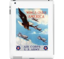 Wings Over America -- Air Corps WWII iPad Case/Skin