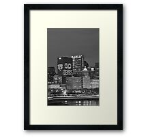 Chicago Skyline Night View Framed Print