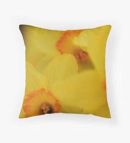 Bursting Daffodils Throw Pillow