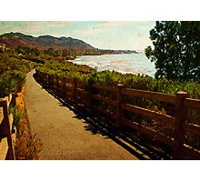 Shell Beach fence overlooking Pirates Cove. Photographic Print