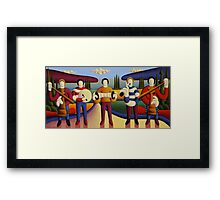 Five soft musicians Framed Print