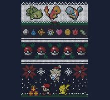 Pokemon Pixel Christmas Jumper by Milmino