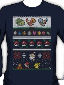 Cute Video Game Pixel Christmas T-Shirt