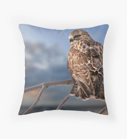 Rough Legged Hawk Throw Pillow