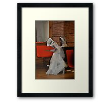 Bored Bride Framed Print