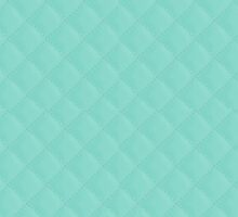 Tiffany Aqua Blue Quilted Pattern by podartist
