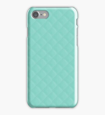 Tiffany Aqua Blue Puffy Quilted Pattern iPhone Case/Skin
