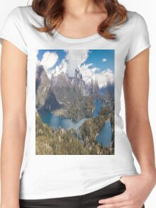 Panaroma San Carlos de Bariloche - Patagonia Women's Fitted Scoop T-Shirt