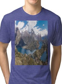 Panaroma San Carlos de Bariloche - Patagonia Tri-blend T-Shirt