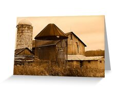 """"""" Empty Bird Cage """" sepia # 3 Greeting Card"""