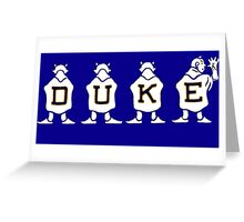 DUKE Greeting Card