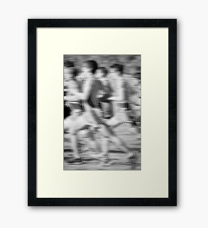 """The Race"" - any other title ideas? Framed Print"