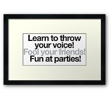 Beetlejuice - Throw your voice Framed Print