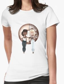 Choco & Vanilla Twins Womens Fitted T-Shirt