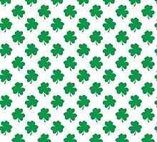 Green Shamrock Clover on White St. Patrick's Day by podartist