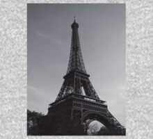 Eiffel Tower Black & White (Paris) One Piece - Short Sleeve
