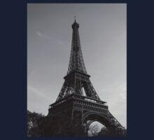 Eiffel Tower Black & White (Paris) One Piece - Short Sleeve