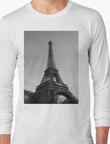 Eiffel Tower Black & White (Paris) Long Sleeve T-Shirt