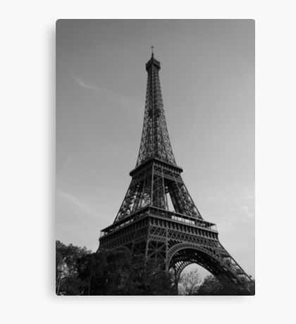 Eiffel Tower Black & White (Paris) Canvas Print
