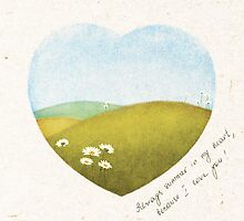 valentine card - summer in my heart by bymuravka