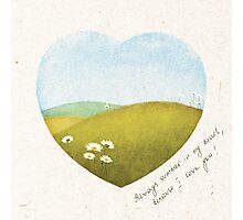 valentine card - summer in my heart Photographic Print