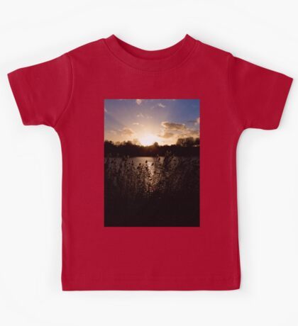 Sunset and lake Kids Tee
