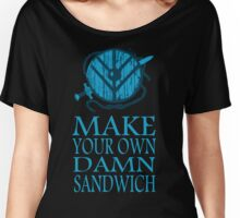 shieldmaiden symbol - MAKE YOUR OWN DAMN SANDWICH Women's Relaxed Fit T-Shirt