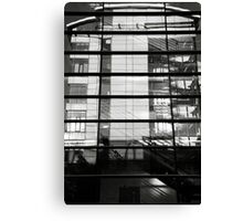 Reflections - Bulding within a building Canvas Print