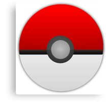 Pokeball Pokemon Canvas Print