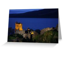 Dusk at Urquhart Castle Greeting Card