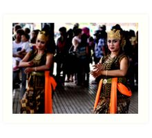 Indonesian dancer Art Print