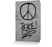 Peace for mankind Greeting Card