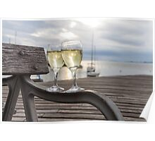 Wine and Sunset Poster