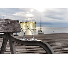 Wine and Sunset Photographic Print