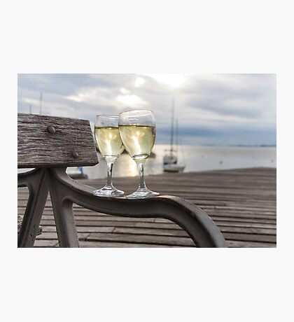 Wine and Sunset Photographic Print